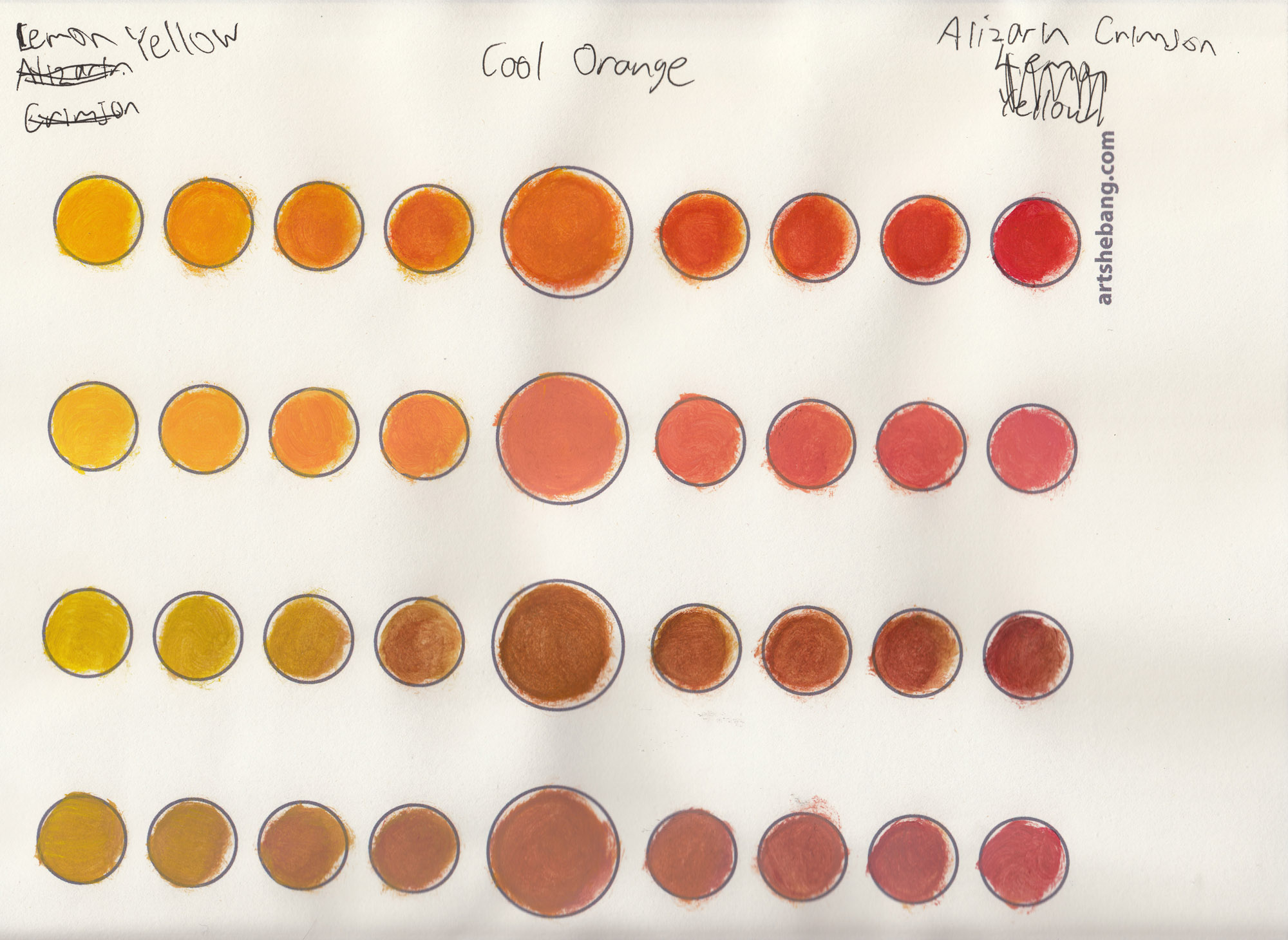 Orange paint color chart pictures to pin on pinterest Shades of orange colour chart