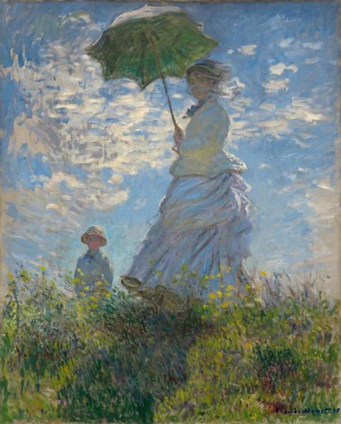 Women with Parasol - Madame Monet and Her Son