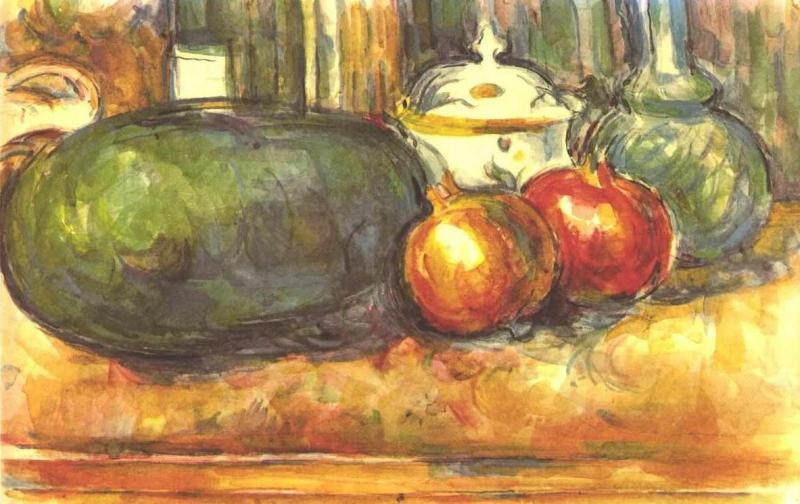 Still Life with Watermelon and Pemegranates