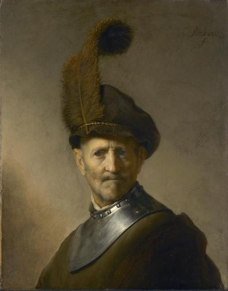 An Old Man in Military Costume