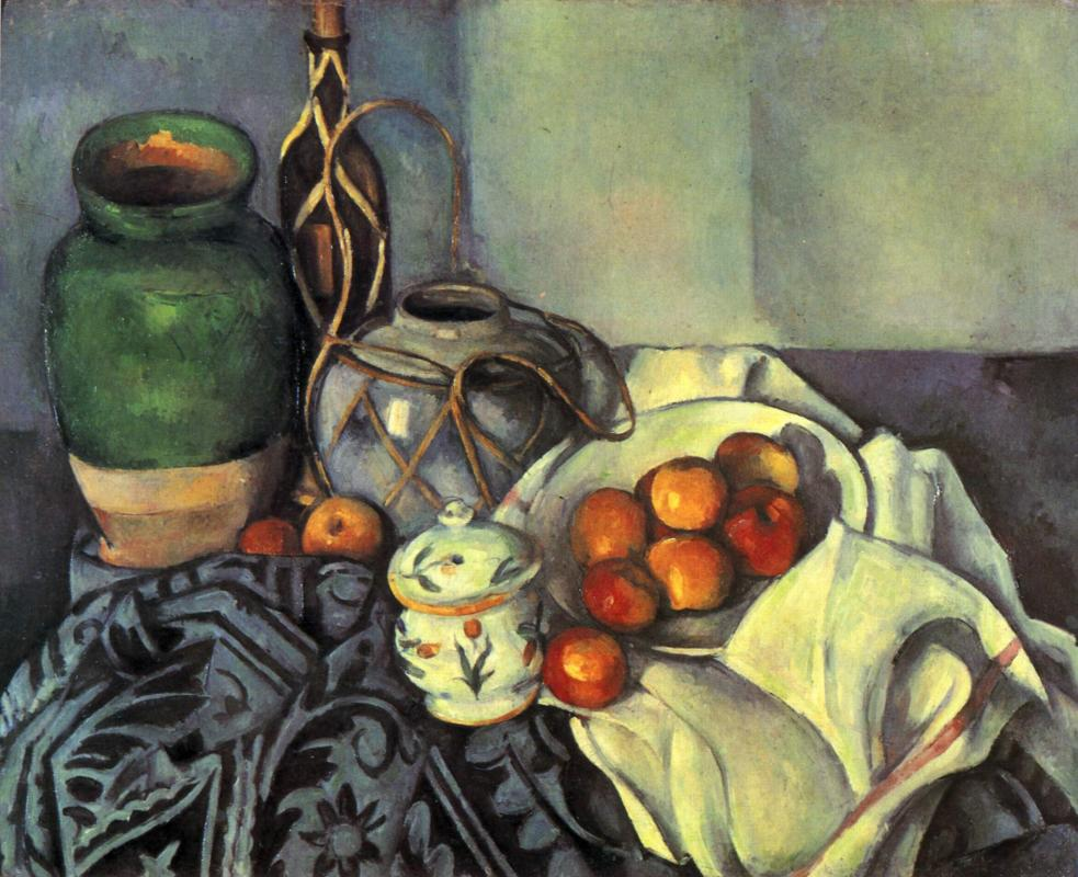 Still life with apples by famous artist Paul Cezanne